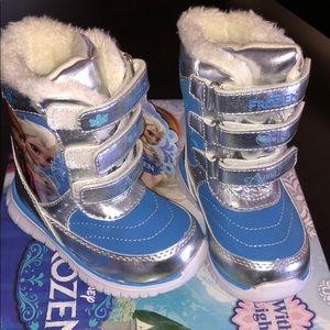 Disney frozen 6 toddler girls winter snow boots